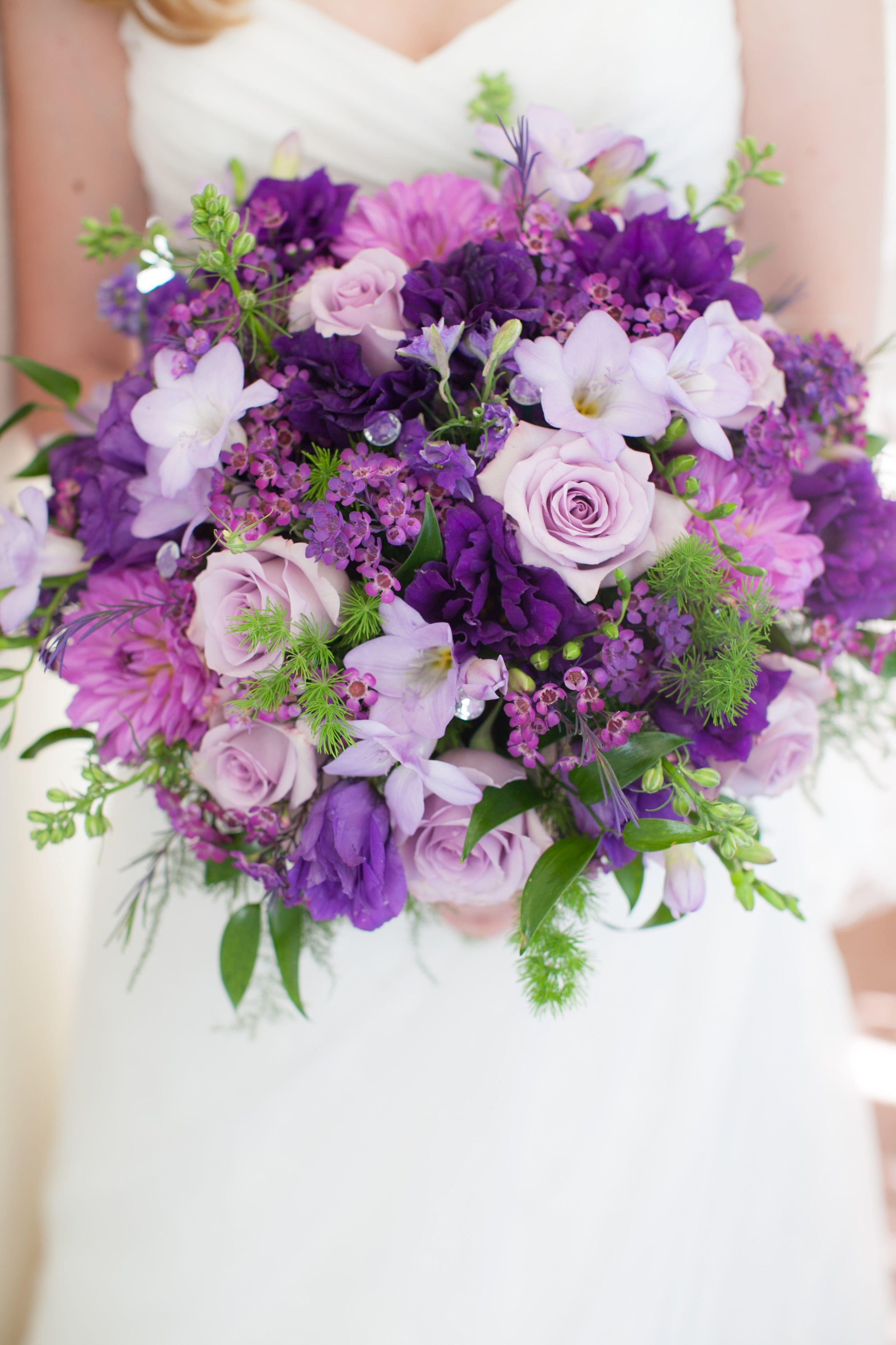 Purple Flower Bouquet The Waterfront Beach Resort A Hilton Hotel