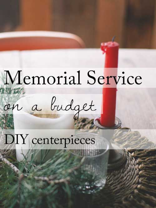 15 Ideas For A Beautiful Memorial Service On Budget Diy Reception Table Centerpieces Funeral
