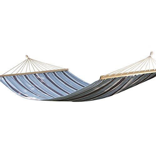 Specialoºalimited Quantity Adeco Naval Style Cotton Fabric Canvas Hammock Tree Hanging Suspended Outdoor Indoor Bed Nava Hammock Camping Furniture Blue Color