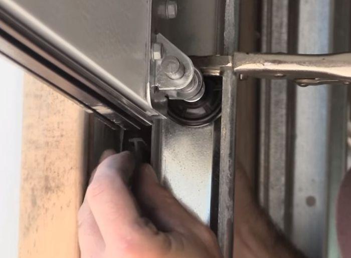How Replace Garage Door Weatherstripping Doors Repair Replacing Trim