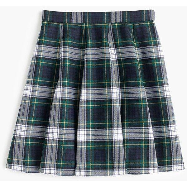 b32c6e514 J.Crew Full Mini Skirt (335 CNY) ❤ liked on Polyvore featuring skirts, mini  skirts, blue plaid skirt, plaid mini skirt, woolen skirt, short plaid mini  ...