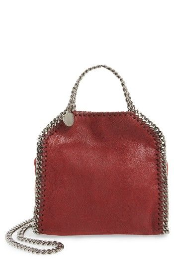 1427c6feea STELLA MCCARTNEY  TINY FALABELLA  FAUX LEATHER CROSSBODY BAG - RED.   stellamccartney  bags  shoulder bags  leather  crossbody