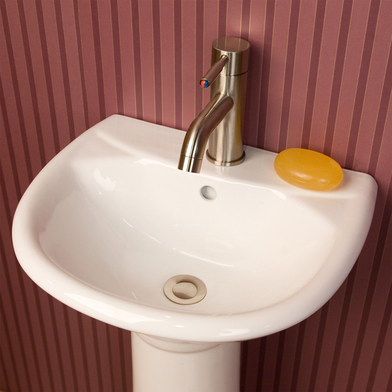 Farnham Porcelain Mini Pedestal Sink Single Faucet Hole