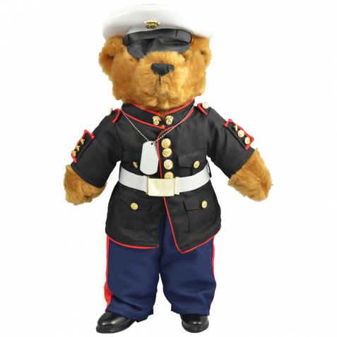 BEAR FORCES OF AMERICA MARINE BEAR IN BLUE 12 INCHES TALL NEW WITH TAGS