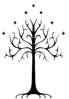 Nimloth The Fair Might Like To Stencil On Our Barn Tree Of Gondor Tattoo White Tree Of Gondor Tree Of Gondor