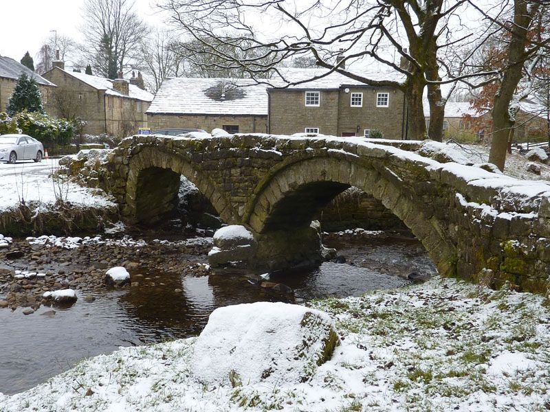 Packhorse Bridge, Wycoller Village, Lancashire.