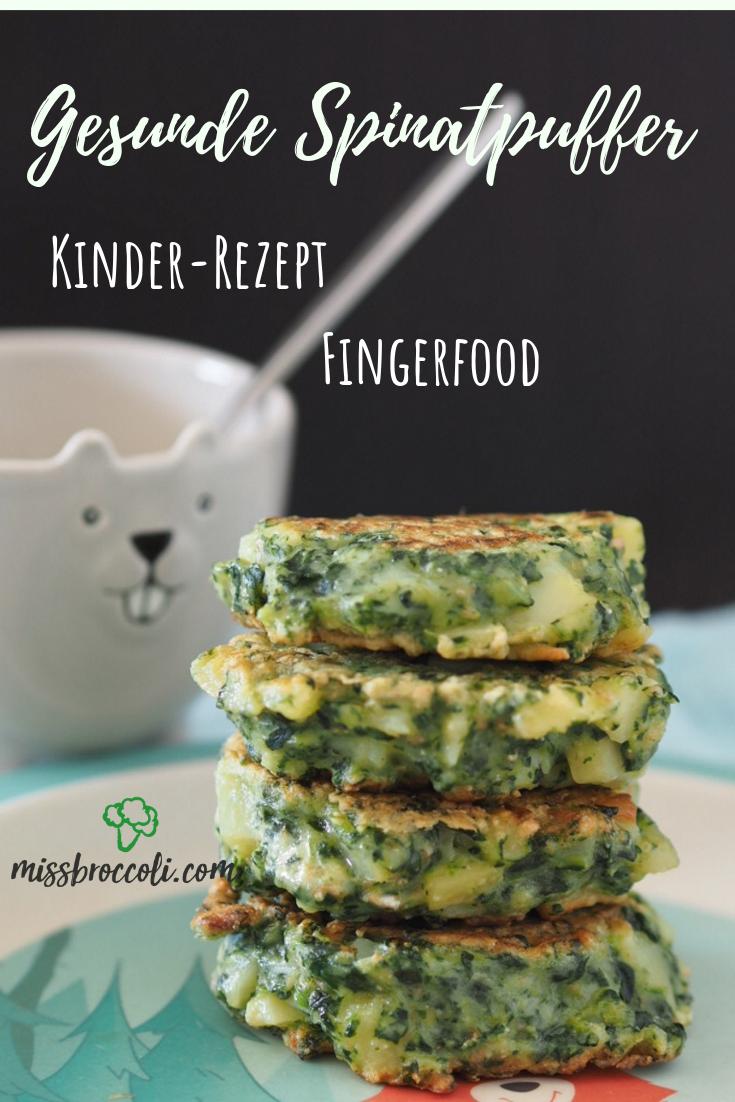 Schnelle Spinatpuffer - Fingerfood für Kinder ⋆ Miss Broccoli #fingerfoodkinder