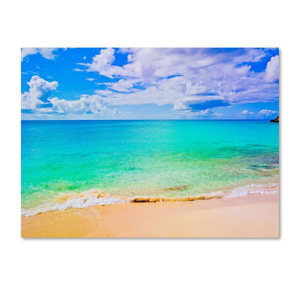 "24"" x 32"" Maho Beach by Preston - Trademark Fine Art"