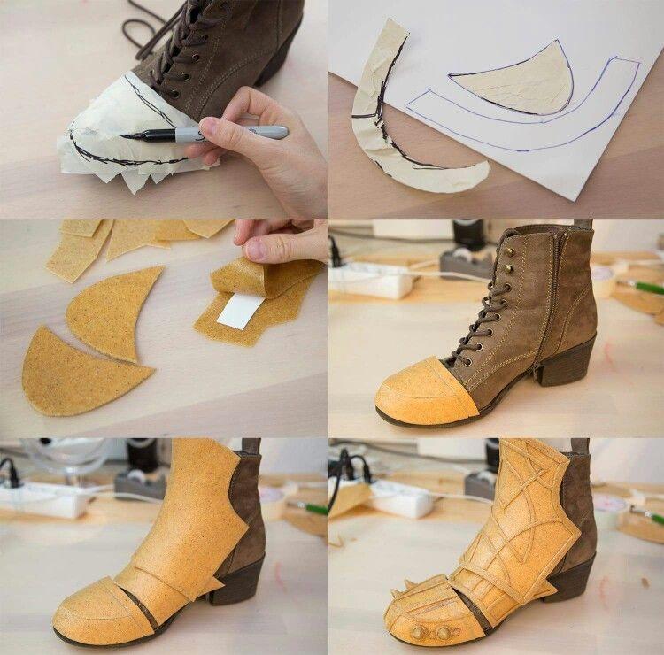 Shoe armor tutorial … | COSPLAY ARMOR | Cospl…