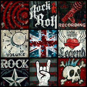 Rock and roll canvas wall art on oopsy daisy search link is bad also sold as inidual  canvases vs  with all rh pinterest
