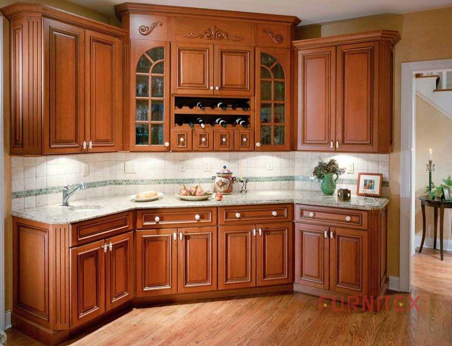 Foto de Armário de cozinha de madeira americano - Grant Cherry-01 em ...