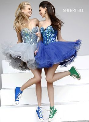 Fashion Prom Dress and Converse