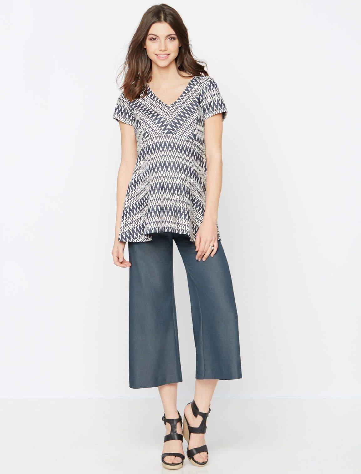A Pea in the Pod Pietro Brunelli Fold Over Belly Maternity Culotte Pant