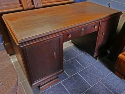 Repräsentativer Schreibtisch aus den 30er Jahren Art Deco in - gebrauchte küchen l form