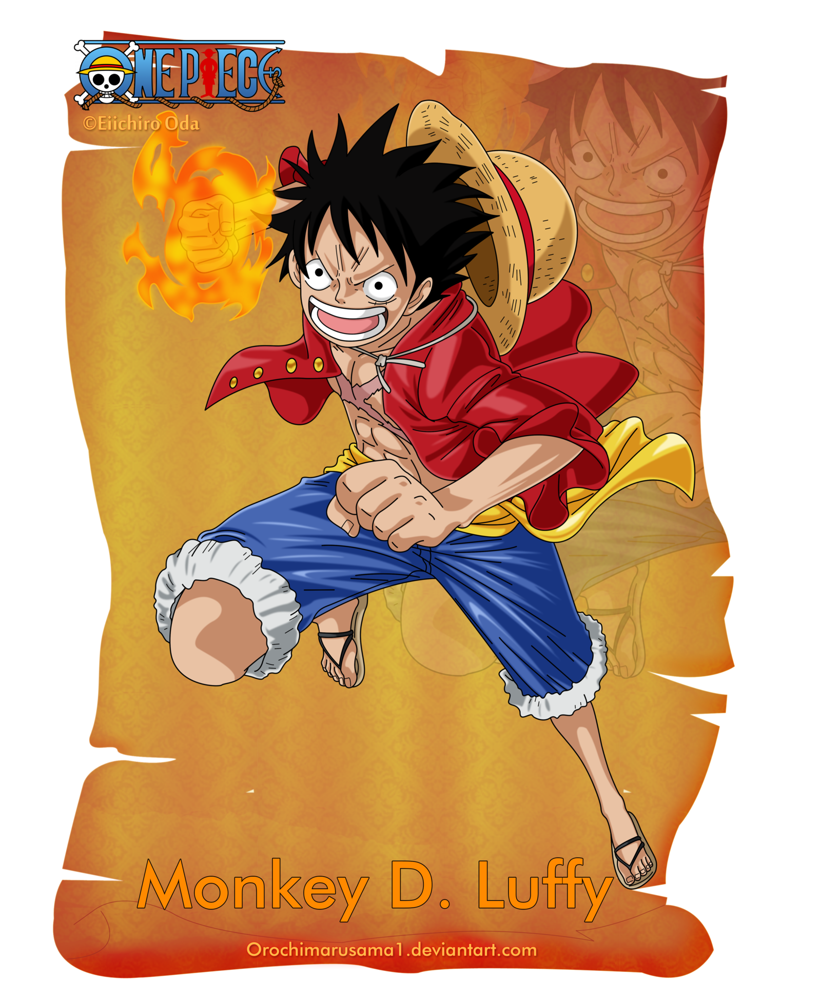 Monkey D Luffy By Orochimarusama1 Deviantart Com On