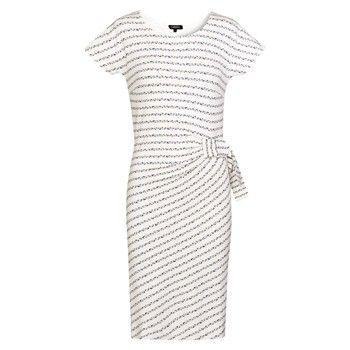 8e44c543db45 Robe droite - blanc - Caroll - Ref  1653575   Brandalley   Look ...