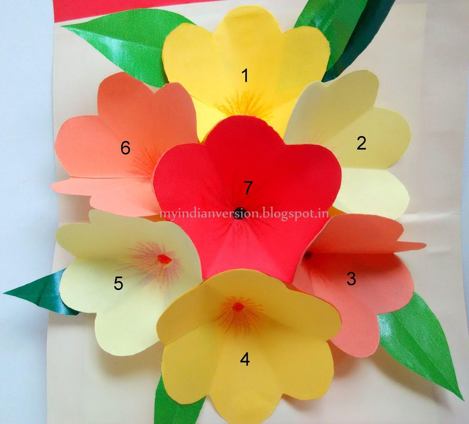 diy easy pop up card  photo tutorial  pop up flower