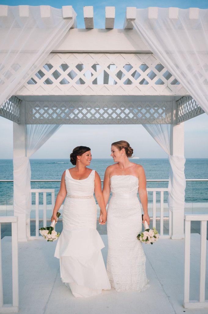#loveislove #lovewins #samesexwedding #lgbtwedding #lgbtqwedding #gaywedding #lesbianwedding #twobrides View More: http://nicolebarrphoto.pass.us/lcwed