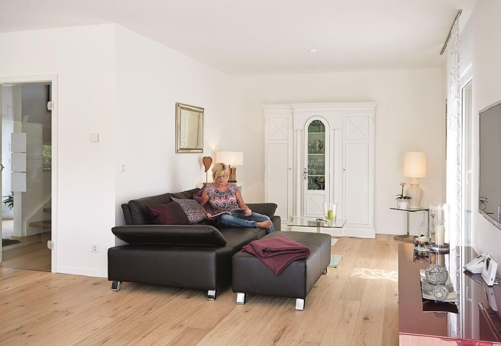 Interior Wohnzimmer - Einrichtungsideen Fertighaus Generation 55 - offene küche wohnzimmer