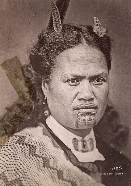 Female Ta Moko On Lips And Chin: Tā Moko Maori Woman With Tattooed Chin And Under Lip