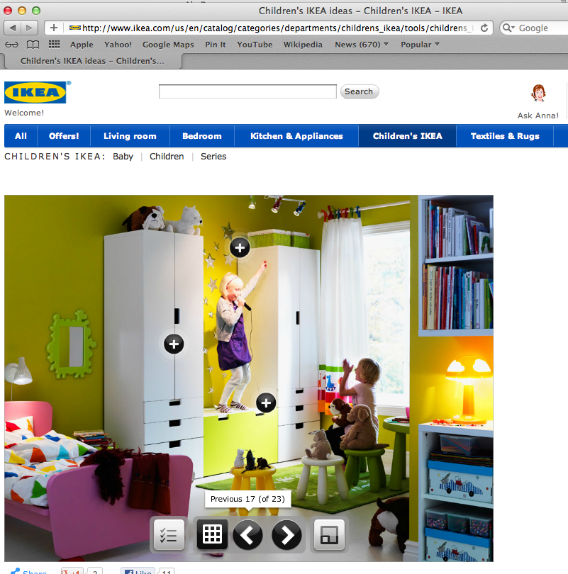 the stars, bookcases and storage are a good idea from ikea.com