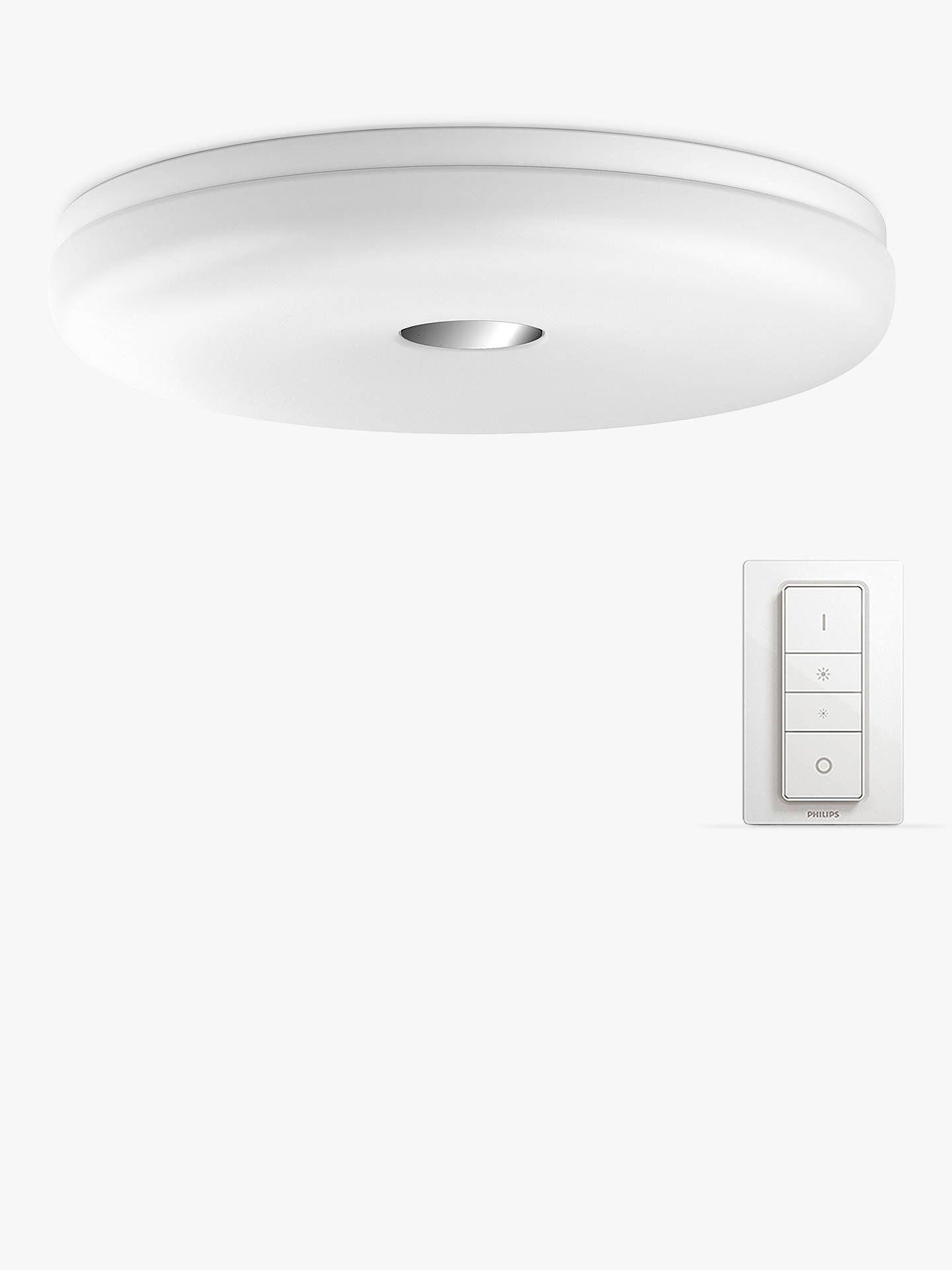 Philips Hue White Ambiance Struana Led Flush Bathroom Ceiling Light