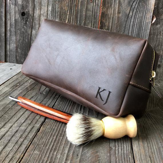 Oil Brown Leather Dopp Kit  d85a16edf114e