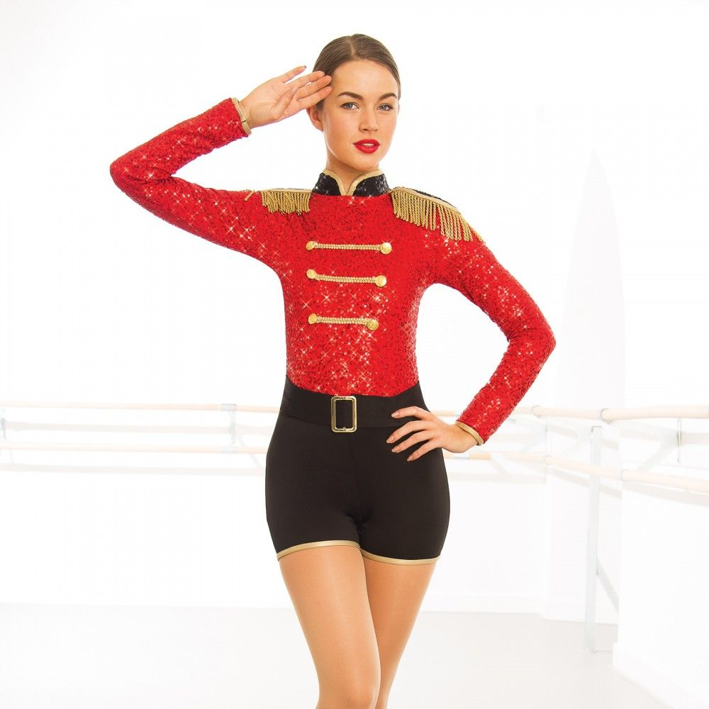 e3d646e87c8d96 1st Position Sequin Military Long Sleeved Playsuit | Skating in 2019 ...