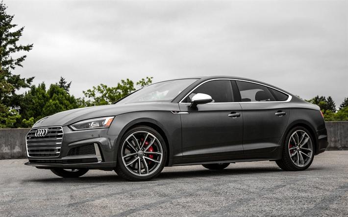 Download Wallpapers Audi S5 Sportback 2017 Gray S5 New S5 German Cars Audi Besthqwallpapers Com Audi S5 Audi A Audi A5