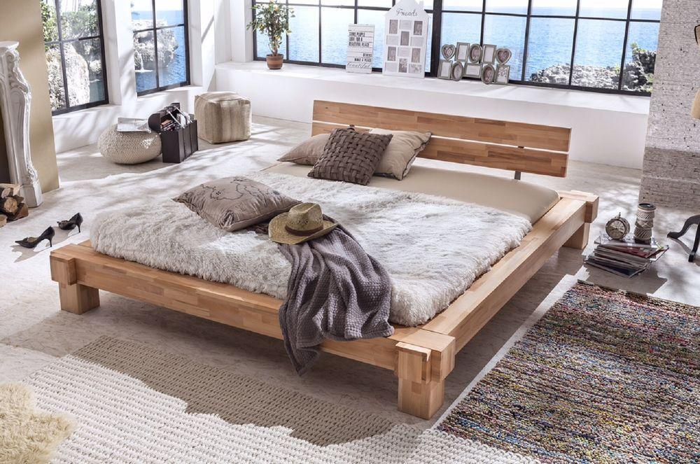 Massivholzbett Palermo Doppelbett Bett Massiv Kernbuche