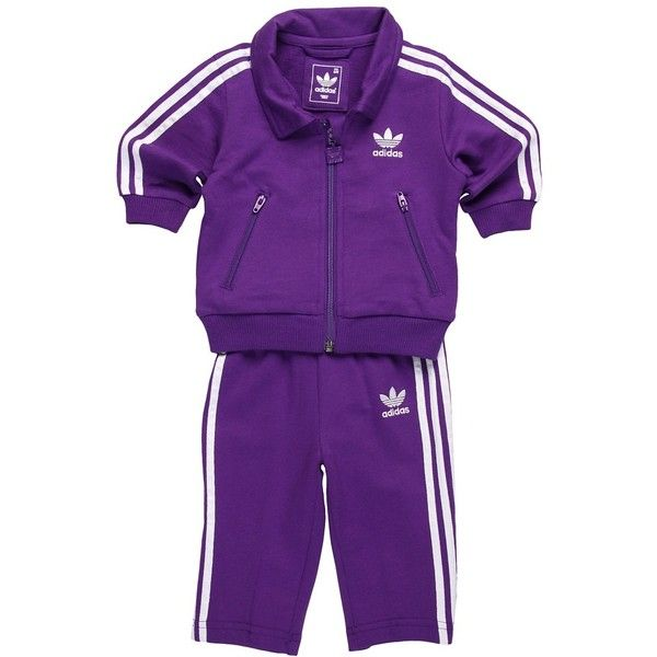 b245ed3af2d Adidas Kids Firebird Tracksuit (Infant/Toddler) ($50) ❤ liked on Polyvore  featuring baby, baby clothes, baby girl, emilie. and kids