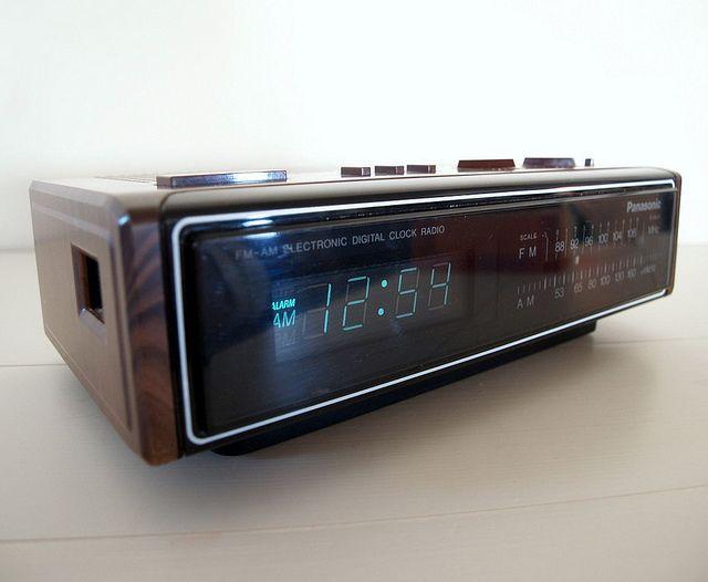 Vintage Panasonic Clock Radio Japan Circa 1983 Radio Alarm Clock Clock Radio