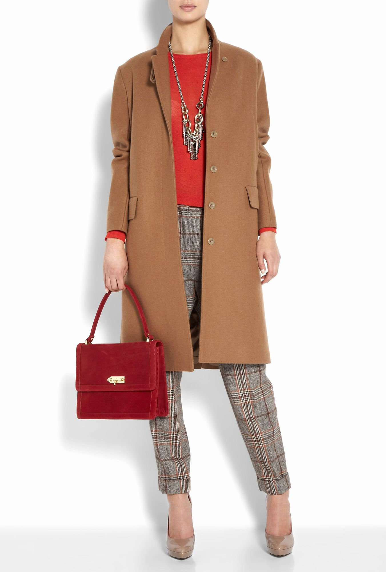 Lizerna Winter Check Tapered Trousers By Malene Birger ...