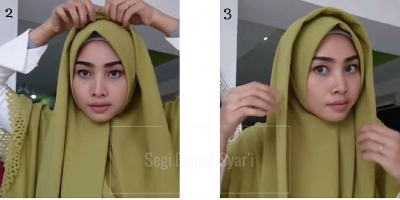 Tutorial Hijab Syar I Segi Empat Untuk Remaja