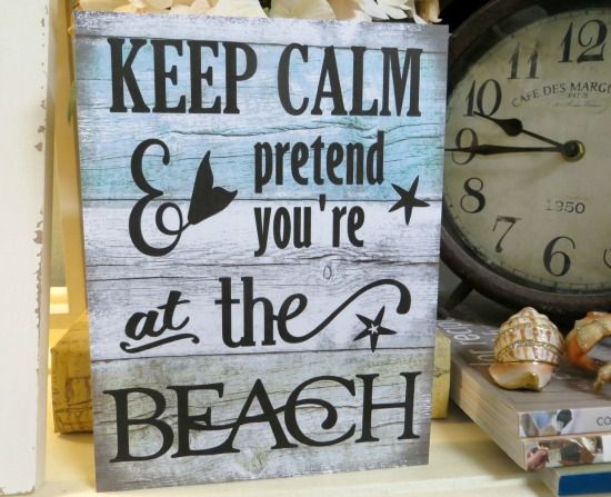 beach humour wooden letter quote 6x6\u201d frame Perfect for birthdays Home decor. Life\u2019s A Beach Enjoy The Waves
