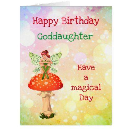 Happy Birthday Goddaughter Fairy Design Card Zazzle Com Daughter Of God Happy Birthday Wishes Birthday Wishes