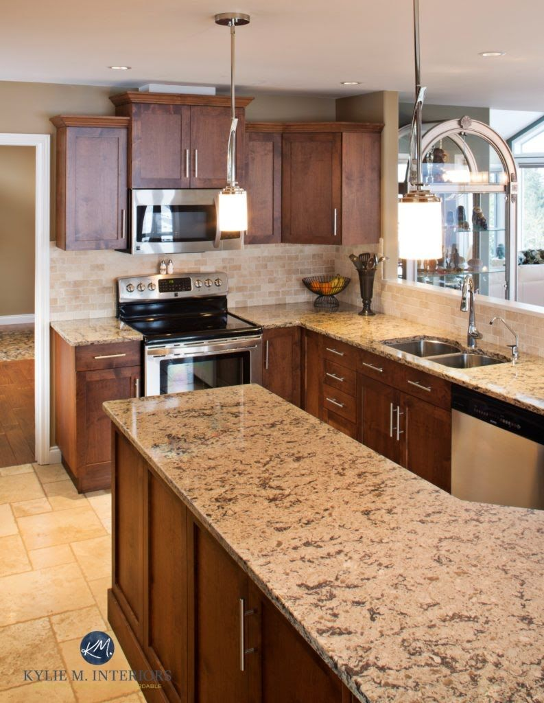 outdated pink maple kitchen renovation with new maple cabinets