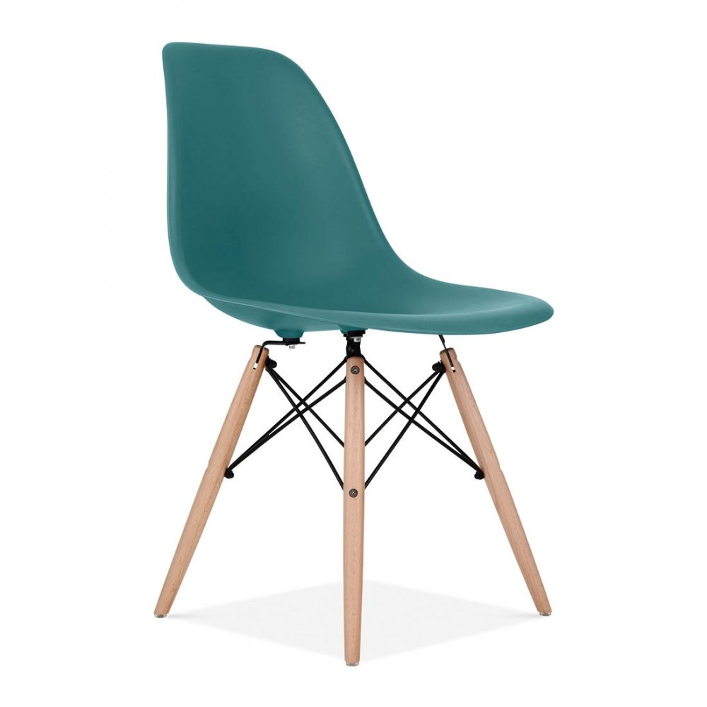 Iconic Designs Teal DSW Chair | Sedie, Charles eames e Color tè