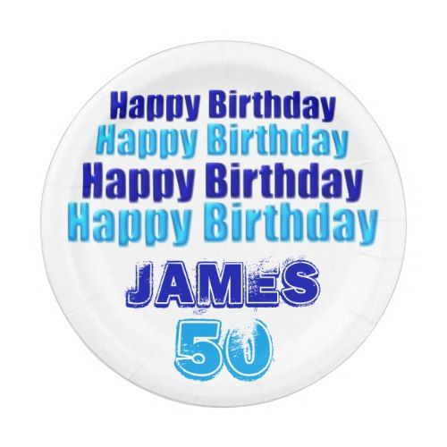 50th Birthday Party Personalized Paper Plates  sc 1 st  Pinterest & 50th Birthday Party Personalized Paper Plates | Party Paper Plates ...