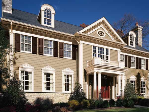 Paint Color Ideas For Colonial Revival Houses Brown Roof Houses Warm And Paint Colors