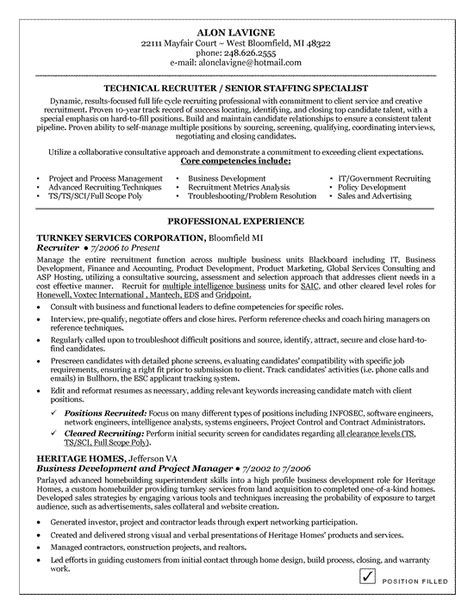 Technical Recruiter Resume Example Resume examples - recruiter resume