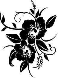 Resultat De Recherche D Images Pour Dessin Fleur Hibiscus Noir Et