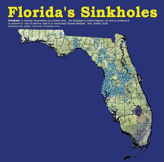 Interactive Florida Sinkhole Map Do You Live Near A Sinkhole