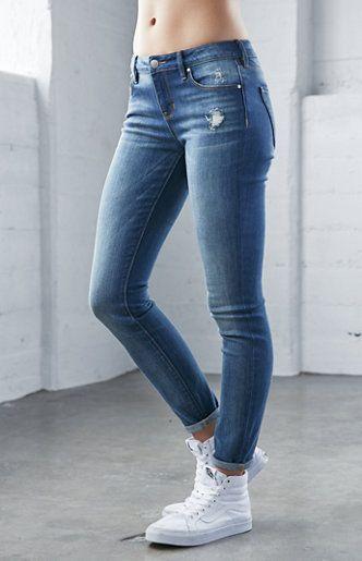 Elements Blue Mid Rise Skinny Jeans  ba154efd2f02