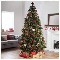 Buy Tesco 7ft Luxury Regency Fir Christmas Tree From Our Christmas Tr Farmhouse Christmas Ornaments Green Christmas Tree Decorations Christmas Tree Inspiration