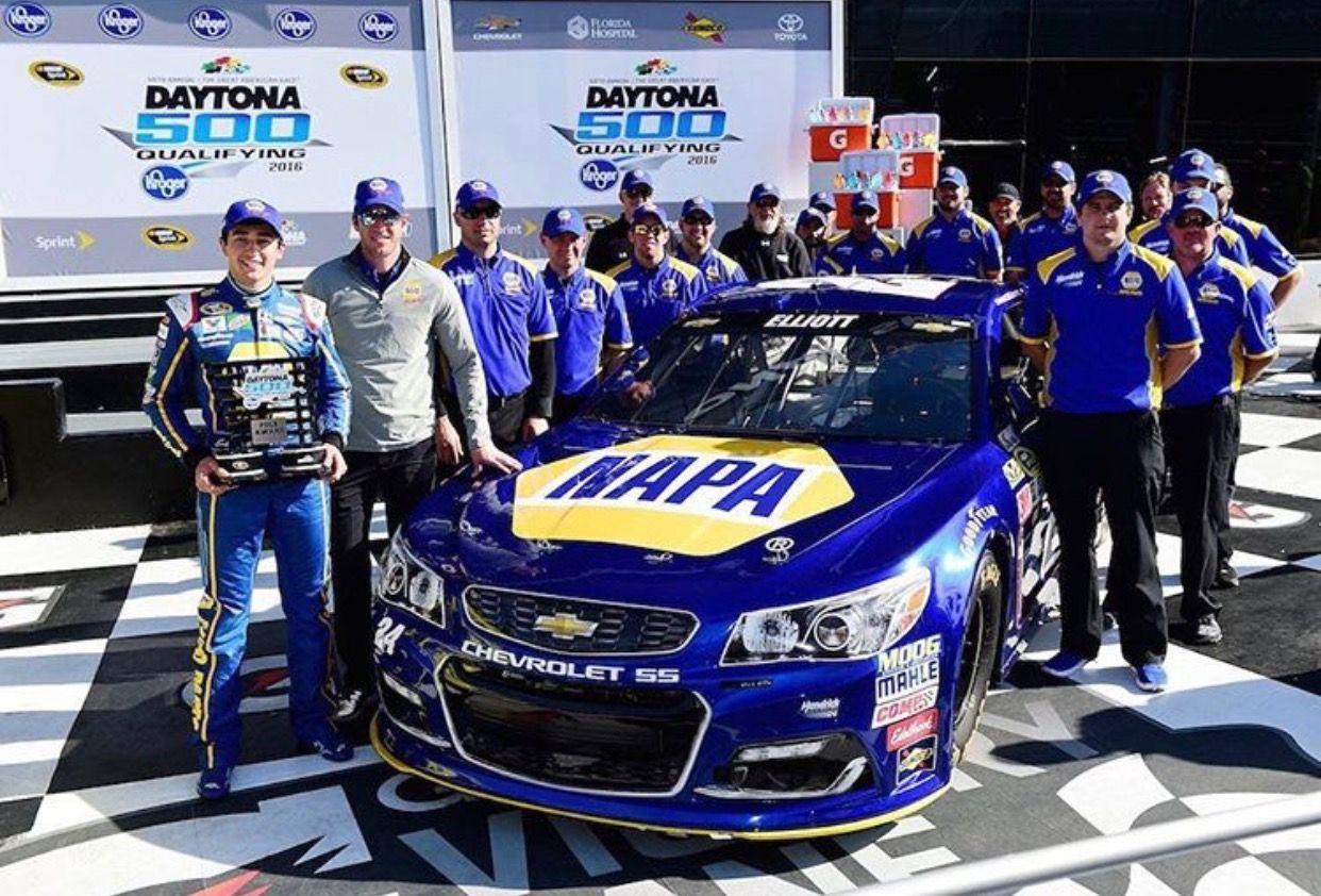 2017 Daytona 500 pole Chase elliott, Nascar race cars