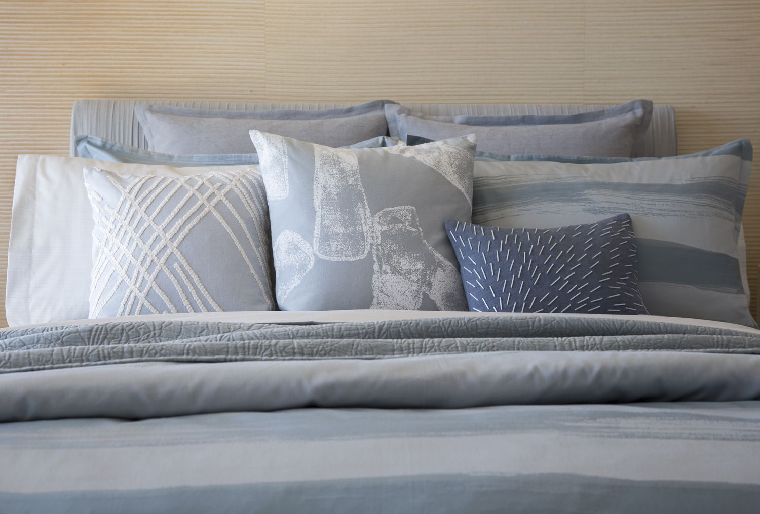 from the 'zuma' bedding set, part of the kelly wearstler luxe