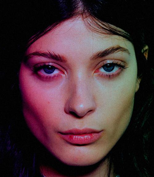 Larissa Hofmann at Fausto Puglisi Spring 2015 Backstage