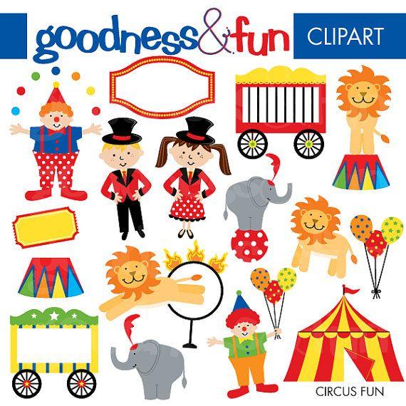 buy 2 get 1 free circus fun clipart digital circus clipart rh pinterest com free clipart circus animals free clipart circus tent