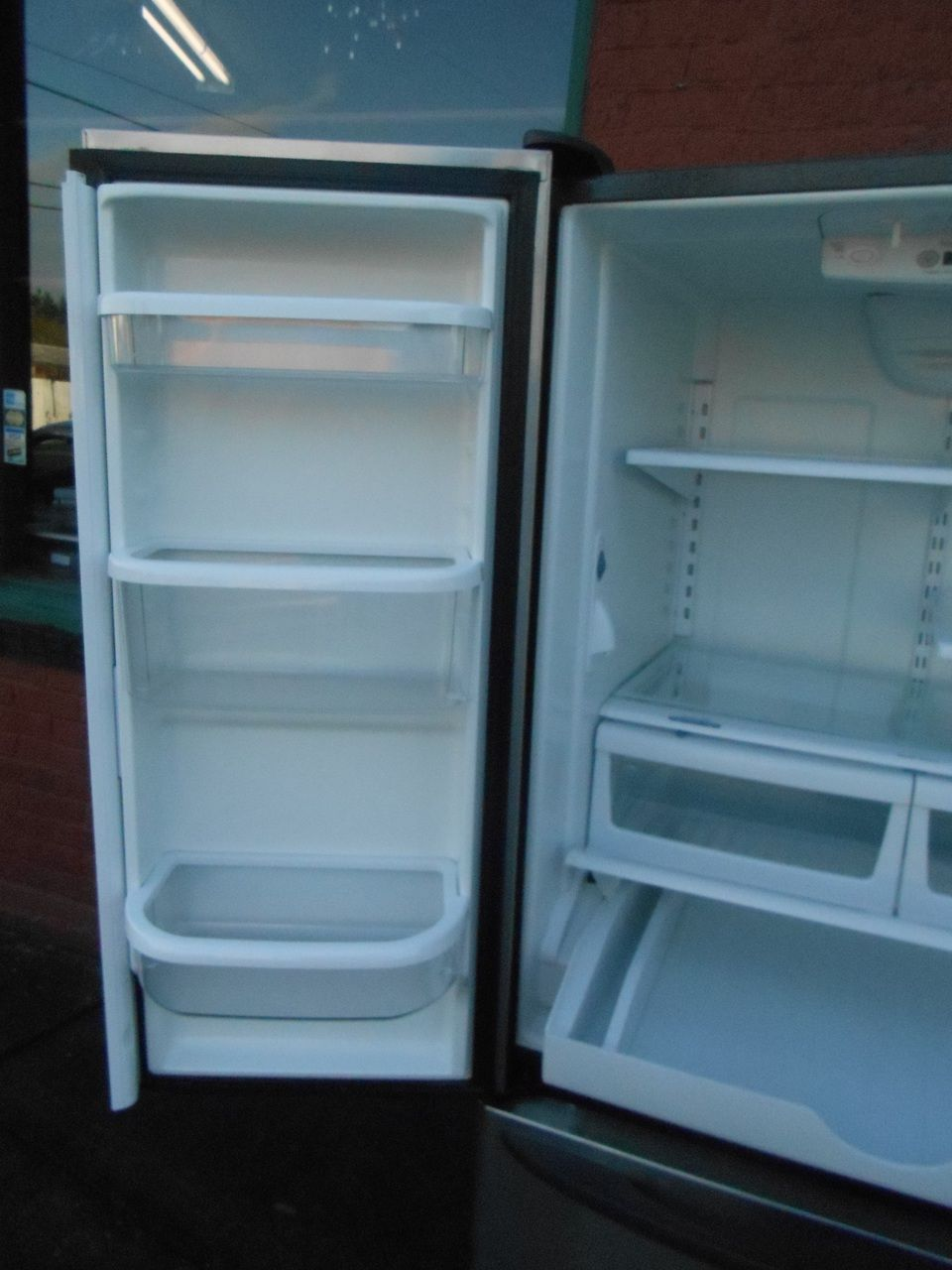 kenmore fridge inside. appliance city - kenmore elite french door refrigerator bottom freezer ice maker inside water dispenser adjustable kenmore fridge inside
